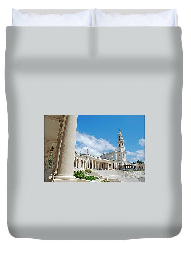 Architecture Duvet Cover featuring the photograph Sanctuary Of Fatima by Luis Alvarenga