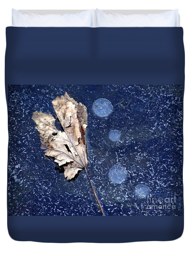 Leaf Duvet Cover featuring the photograph Untitled by Ed Weidman