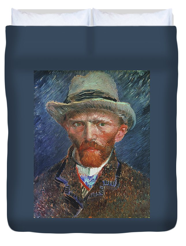 1887 Duvet Cover featuring the painting Vincent Van Gogh (1853-1890) by Granger