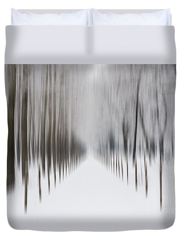 Winter Duvet Cover featuring the photograph Winter Road by Mats Silvan