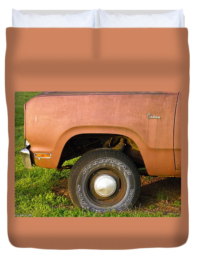 Dodge Duvet Cover featuring the photograph 78 Dodge Power Wagon by Nick Kirby