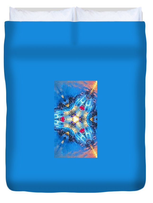 Duvet Cover featuring the painting 8 by Alex Art and Photo