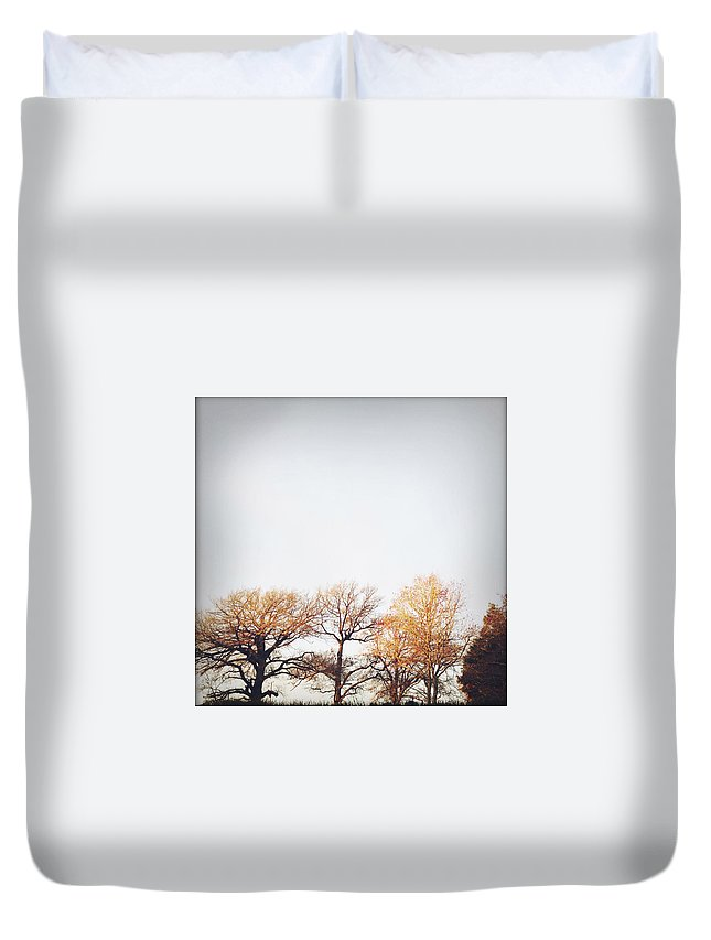 Autumn Duvet Cover featuring the photograph Autumn by Les Cunliffe