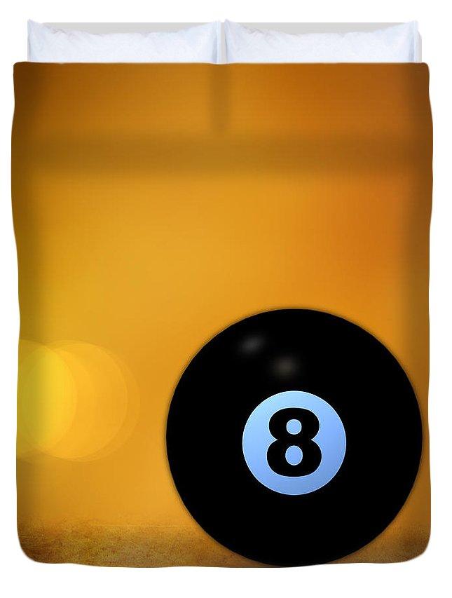 8 Ball Duvet Cover featuring the photograph 8 Ball by Bob Orsillo