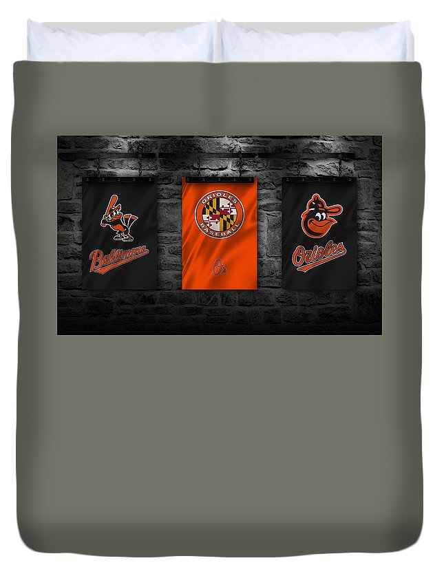 Orioles Duvet Cover featuring the photograph Baltimore Orioles by Joe Hamilton