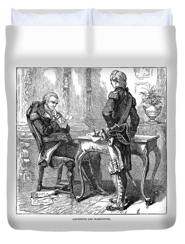 1777 Duvet Cover featuring the painting George Washington (1732-1799) by Granger