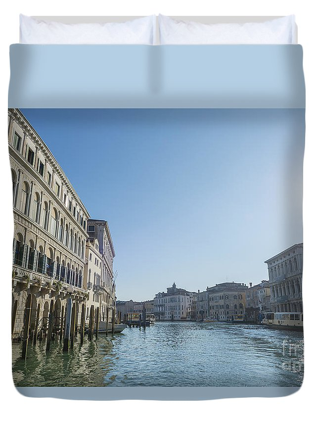 Gran Canal Duvet Cover featuring the photograph Gran Canal by Mats Silvan