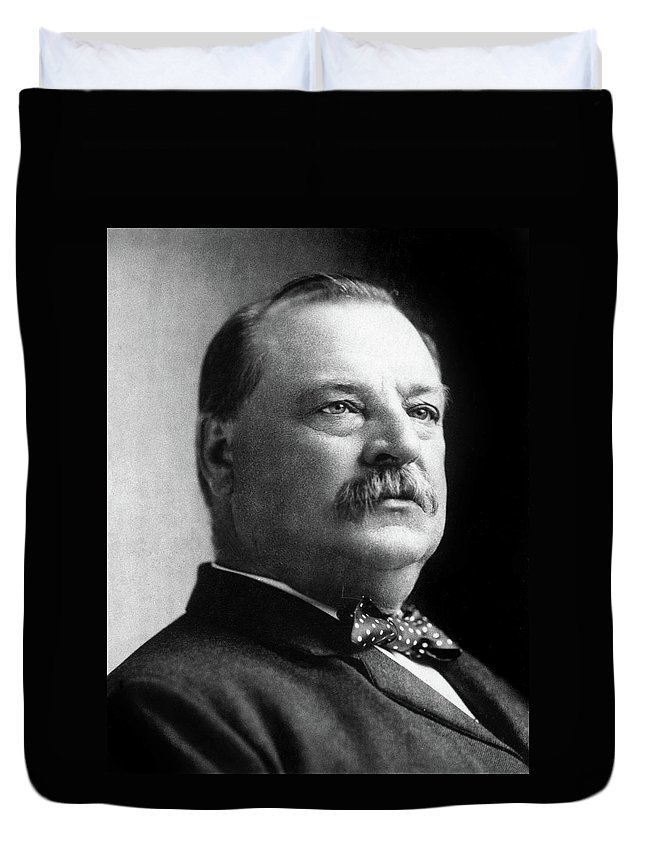 1892 Duvet Cover featuring the photograph Grover Cleveland (1837-1908) by Granger