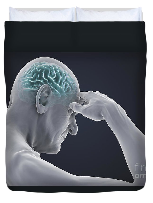 Head Pain Duvet Cover featuring the photograph Head Pain by Science Picture Co