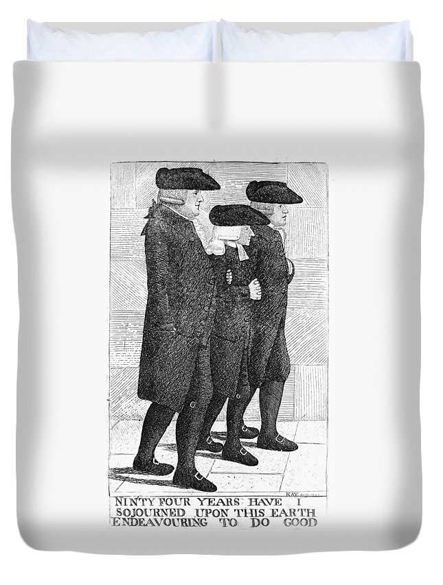 1790 Duvet Cover featuring the painting John Wesley (1703-1791) by Granger
