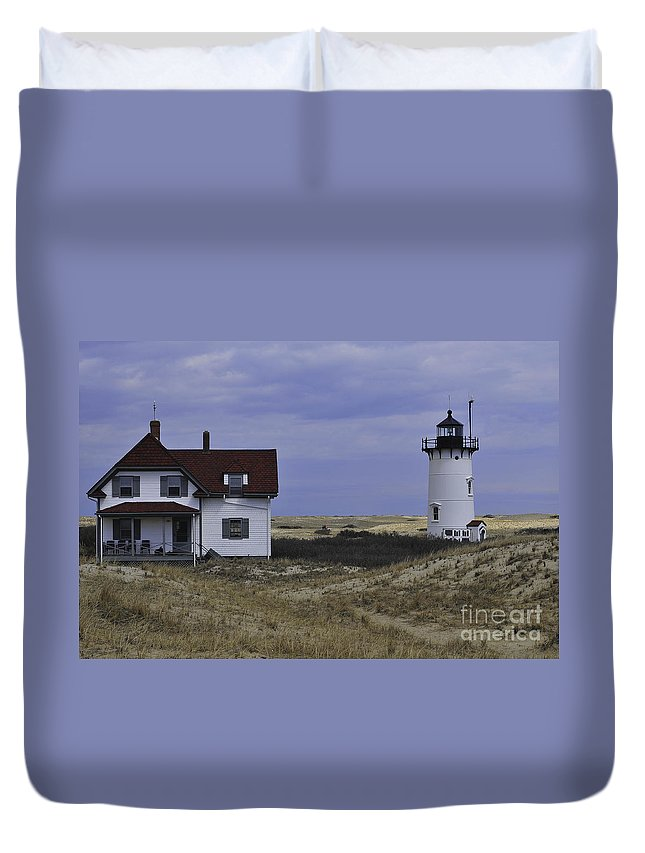 Race Point Light Duvet Cover featuring the photograph Race Point Light 13 by Catherine Reusch Daley