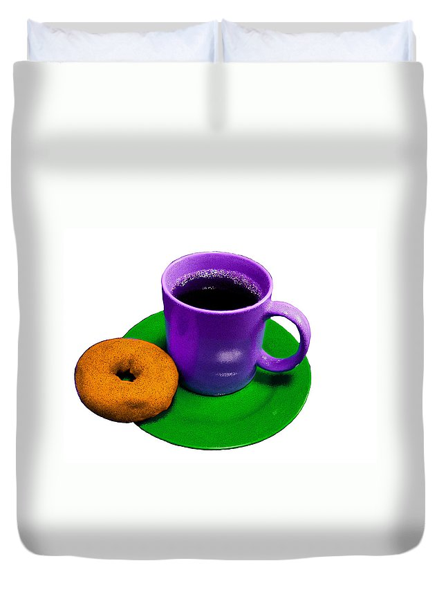 Cup Duvet Cover featuring the painting Saturday Morning Breakfast by Bruce Nutting