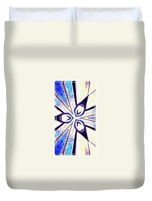 Blue Duvet Cover featuring the photograph 8 by Alex Art and Photo
