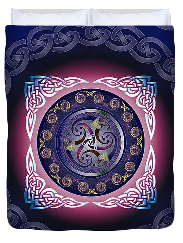 Celtic Duvet Cover featuring the digital art Celtic Pattern by Ireland Calling
