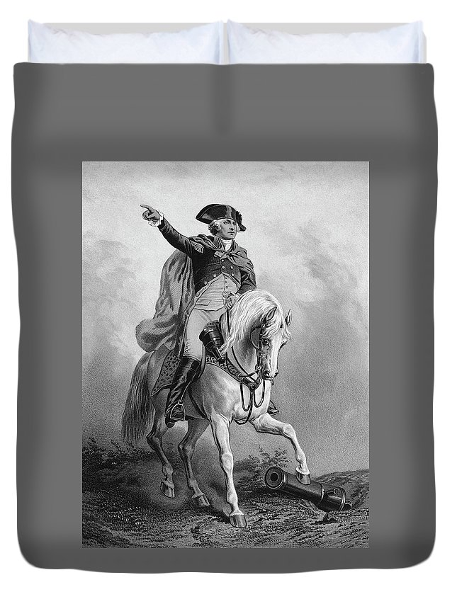 18th Century Duvet Cover featuring the painting George Washington (1732-1799) by Granger