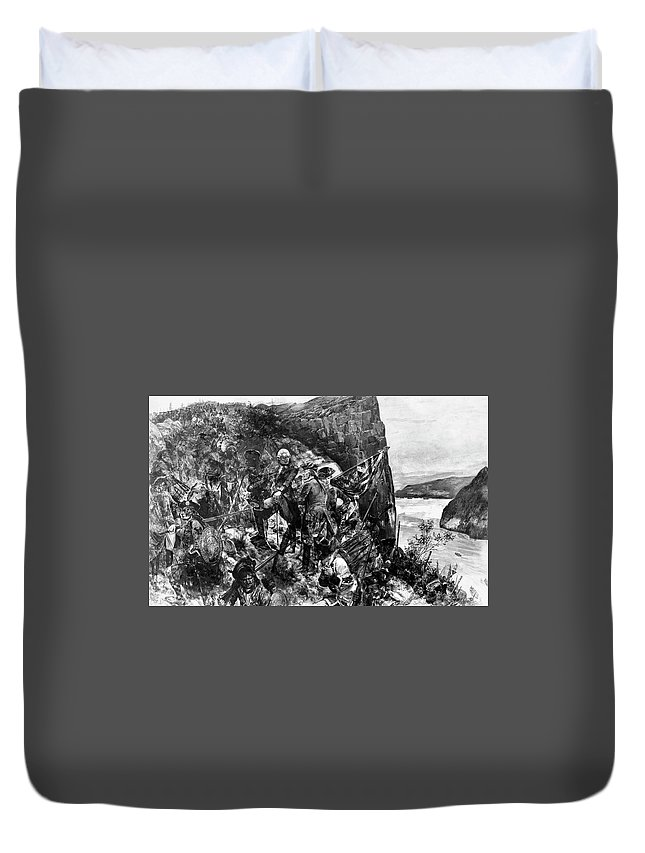 1759 Duvet Cover featuring the painting James Wolfe (1727-1759) by Granger