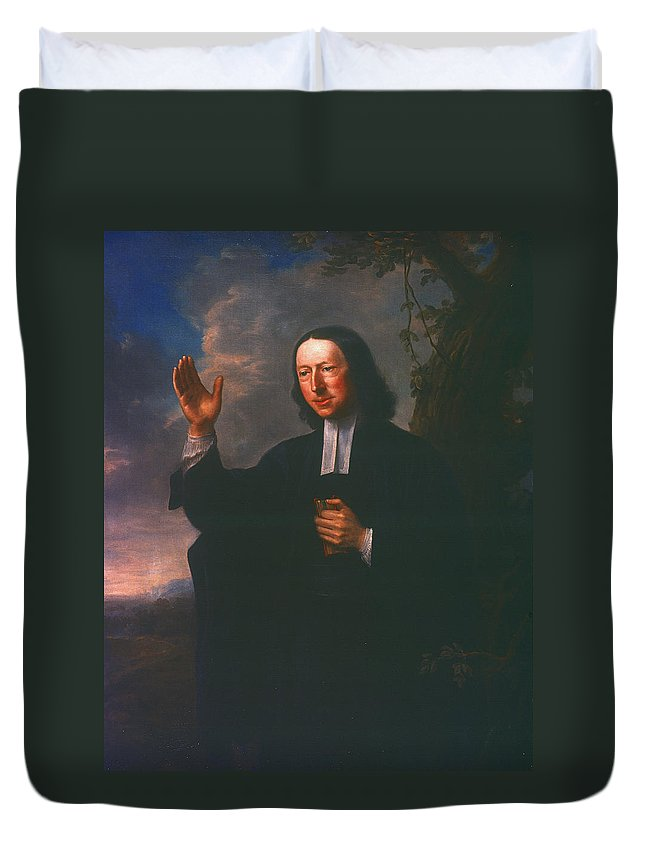 1766 Duvet Cover featuring the painting John Wesley (1703-1791) by Granger