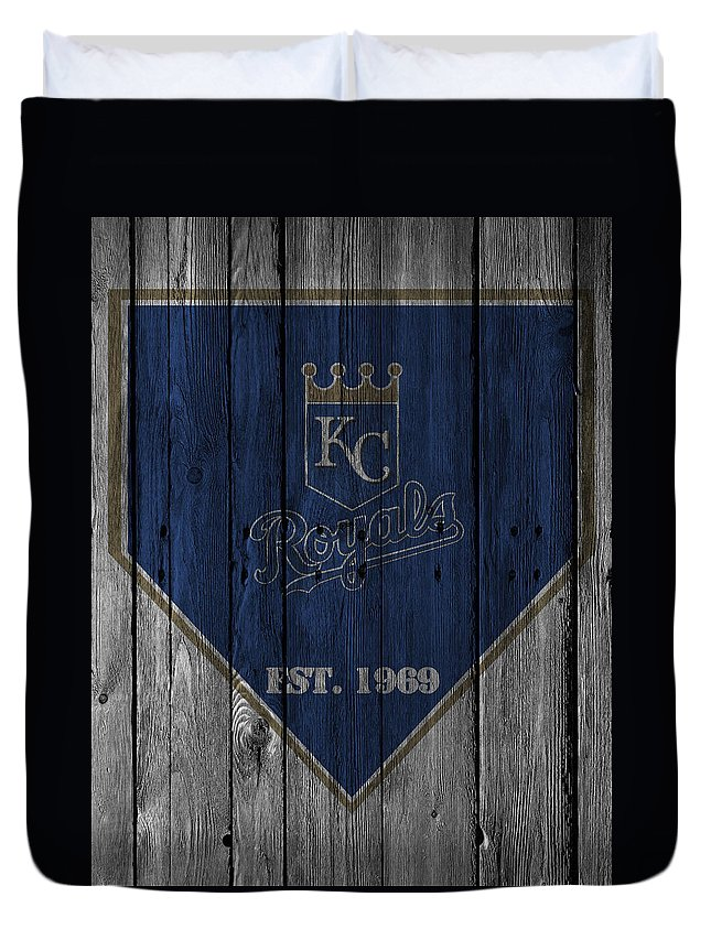 Royals Duvet Cover featuring the photograph Kansas City Royals by Joe Hamilton