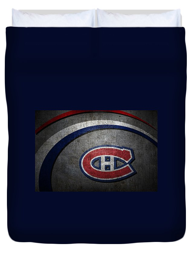 Canadiens Duvet Cover featuring the photograph Montreal Canadiens by Joe Hamilton