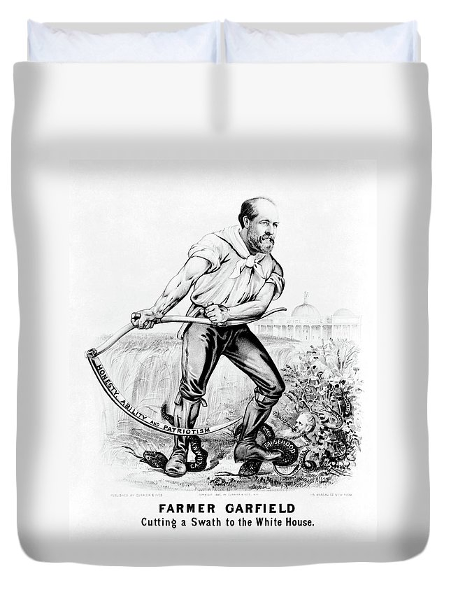 1880 Duvet Cover featuring the painting Presidential Campaign, 1880 by Granger