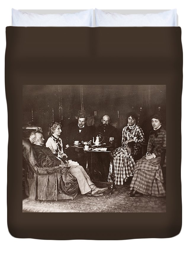 19th Century Duvet Cover featuring the photograph Richard Wagner (1813-1883) by Granger
