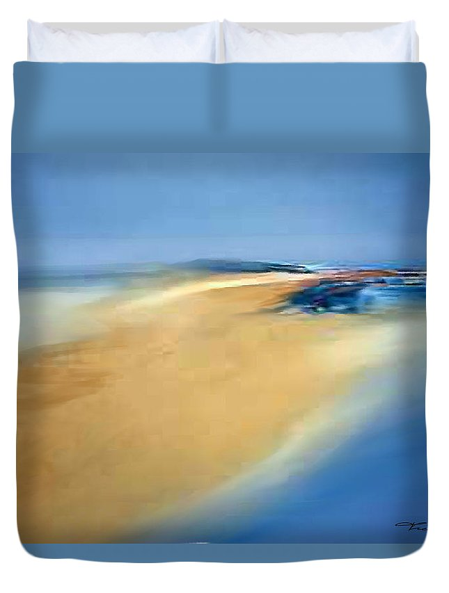 Theo Danella Duvet Cover featuring the painting A 5 by Theo Danella