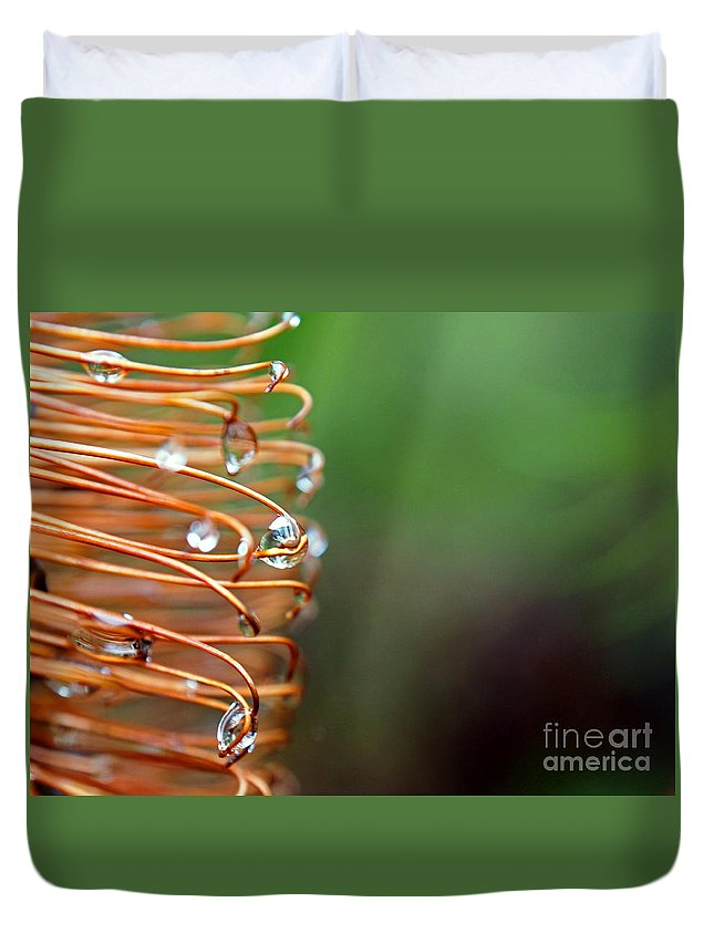 Life Duvet Cover featuring the photograph A Banksia Flowers Hold On Water by Kaleidoscopik Photography