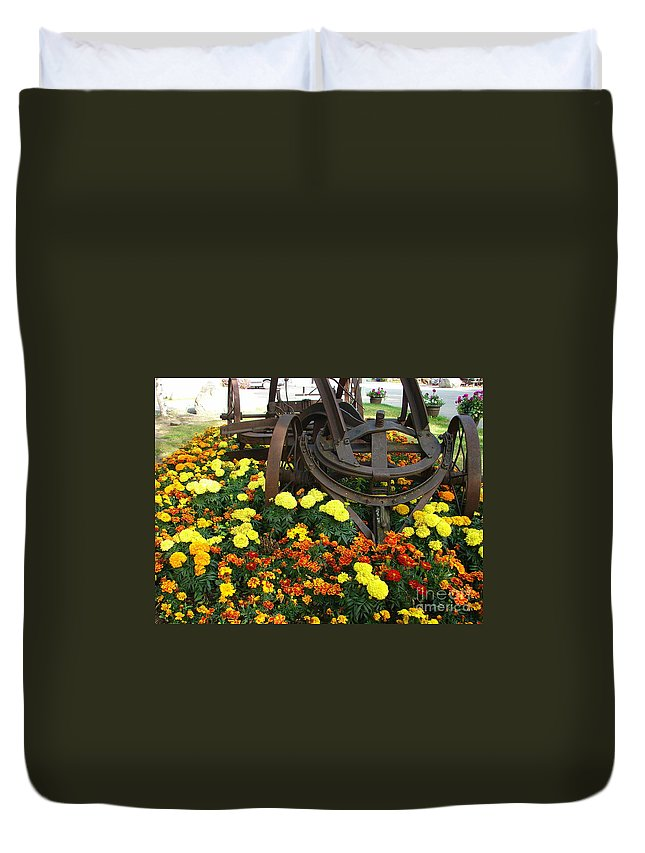 Equipment Duvet Cover featuring the photograph A Blast From The Past by Lew Davis