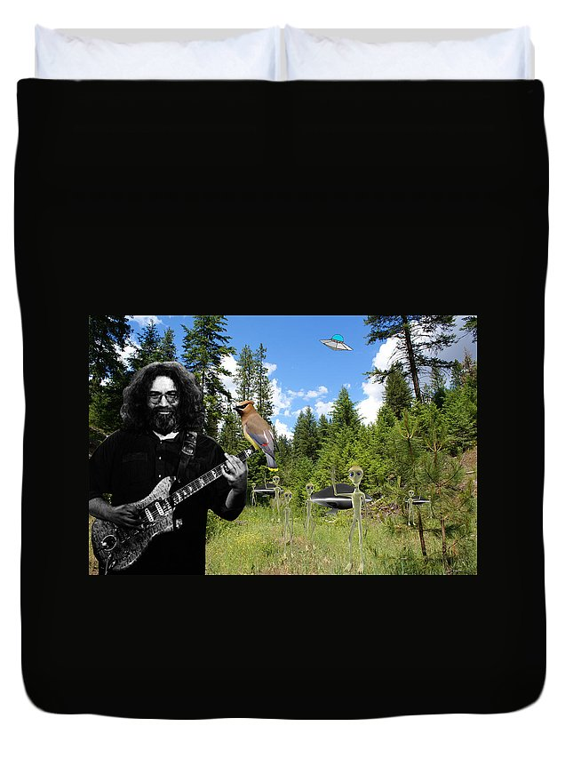 Grateful Dead Duvet Cover featuring the photograph A Close Encounter Of The Garcia Kind by Ben Upham