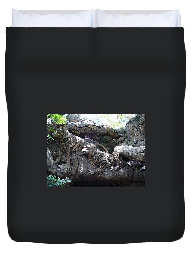 Theme Park Duvet Cover featuring the photograph A Closer Look At Tree Of Life by Lingfai Leung