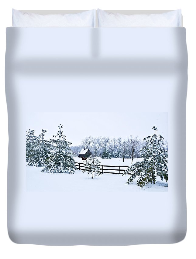 Winter Duvet Cover featuring the photograph A Country Winter by Christopher Nelson