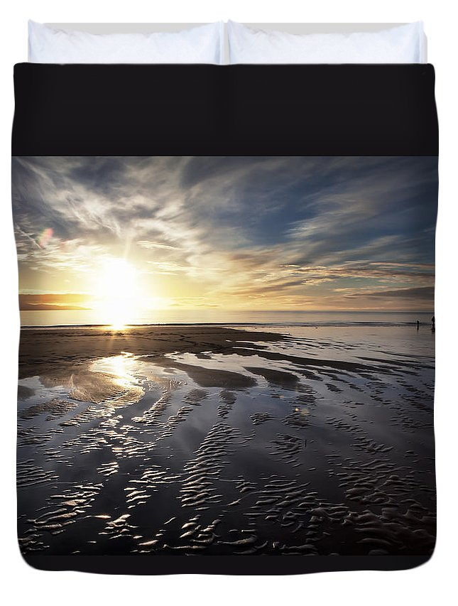 Alaska Duvet Cover featuring the photograph A Day At The Beach by Michele Cornelius
