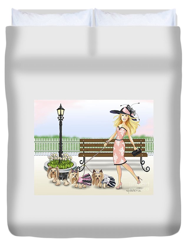 3 Duvet Cover featuring the digital art A Day At The Derby by Catia Lee