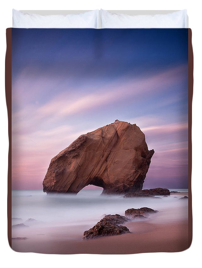 Beach Duvet Cover featuring the photograph A Dream by Jorge Maia