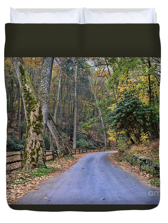 Paul Ward Duvet Cover featuring the photograph A Drive In The Country by Paul Ward