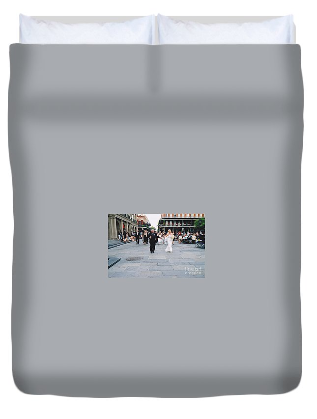 Church Duvet Cover featuring the photograph A French Quarter Wedding by Michelle Powell