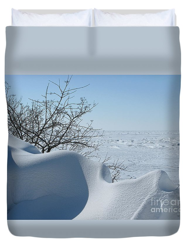 Winter Duvet Cover featuring the photograph A Gentle Beauty by Ann Horn