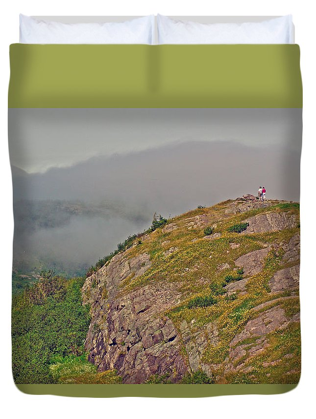 A High Point On Signal Hill National Historic Site In Saint John's Duvet Cover featuring the photograph A High Point On Signal Hill National Historic Site In Saint John's-nl by Ruth Hager