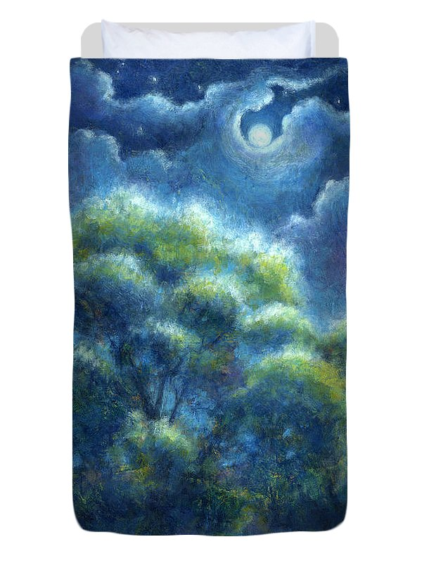 Landscape Duvet Cover featuring the painting A Hope And A Future by Retta Stephenson
