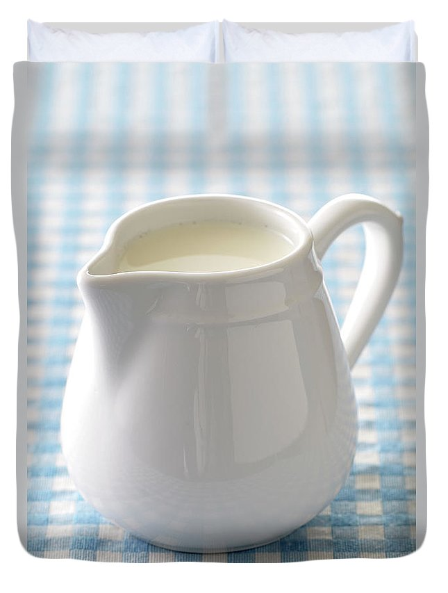 Single Object Duvet Cover featuring the photograph A Jug Of Cream by Riou