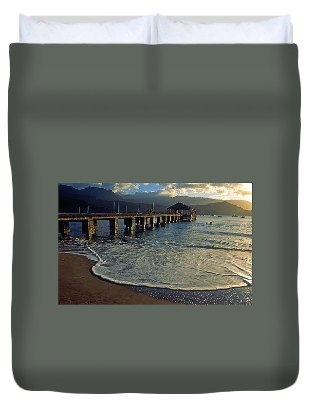 Hanalei Duvet Cover featuring the photograph A Land Called Hanalei by Kathy Yates