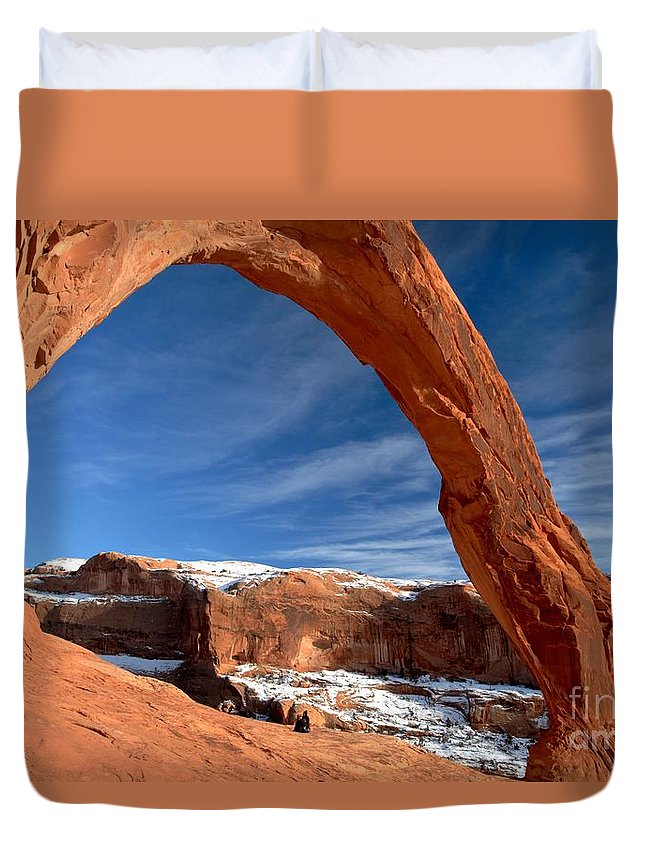 Coronoa Arch Duvet Cover featuring the photograph A Large Corona by Adam Jewell