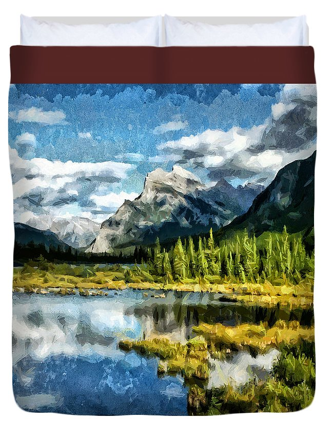 Midnight Streets Duvet Cover featuring the painting A Little Of Something Just Right by Joe Misrasi