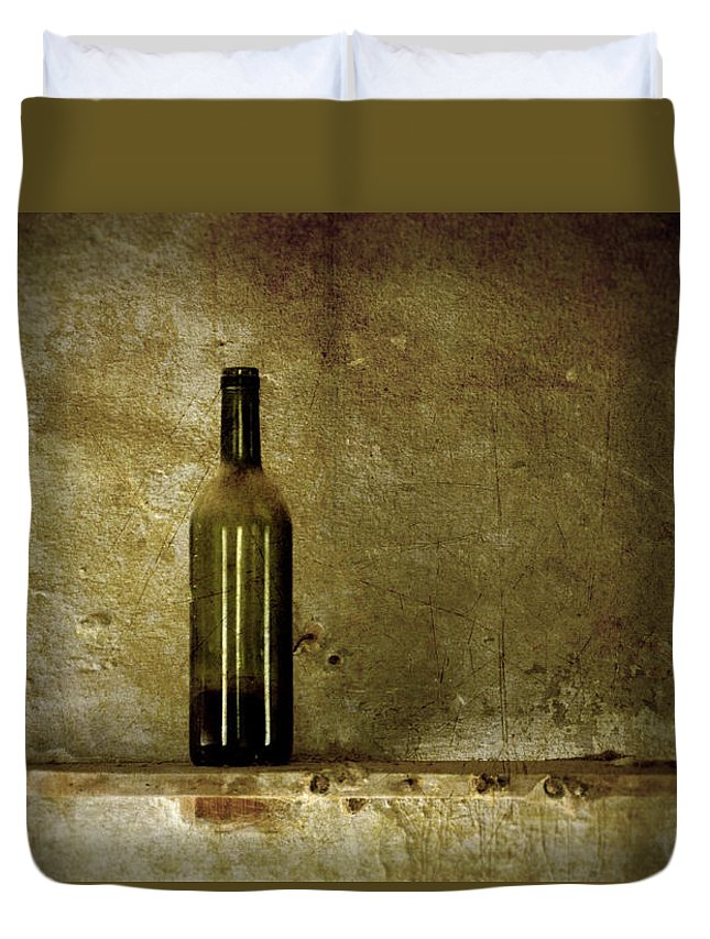 Lonely Duvet Cover featuring the photograph A Lonely Bottle by RicardMN Photography