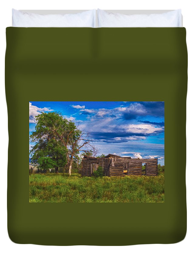 North Cascades Duvet Cover featuring the painting A Moment In Time by Omaste Witkowski