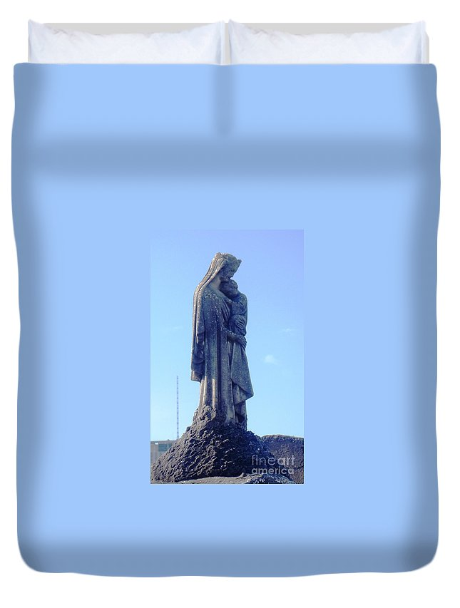 St. Loius Cemetery 1 In New Orleans La Duvet Cover featuring the photograph A Mother's Love by Alys Caviness-Gober