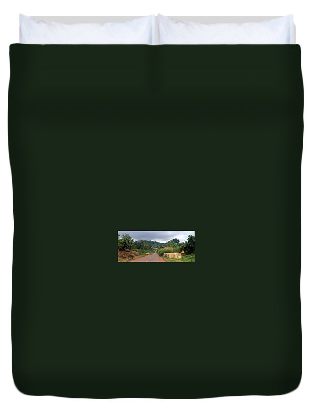 Travel Duvet Cover featuring the photograph A Nice Nigerian Road by Amy Hosp