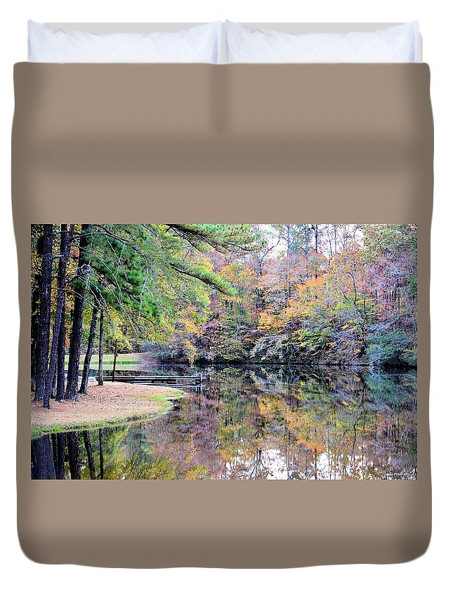 A November Memory 2012 - L Duvet Cover featuring the photograph A November Memory 2012 - L by Maria Urso