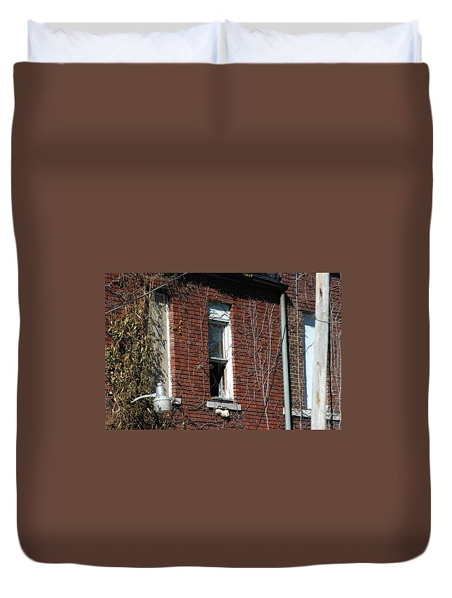 Decay Duvet Cover featuring the photograph A Past by Joseph Yarbrough