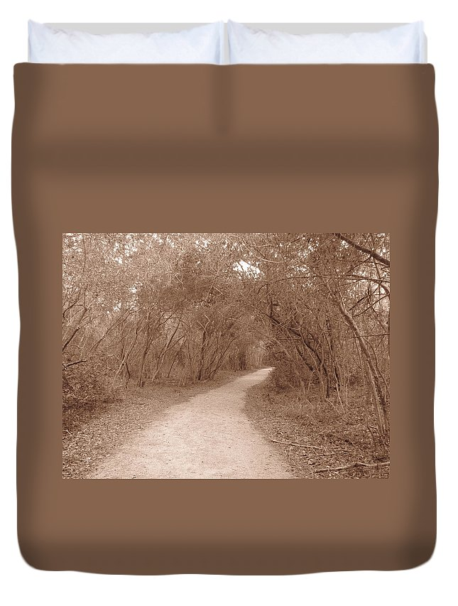 Landscape Duvet Cover featuring the photograph A Path In Life by Beth Vincent